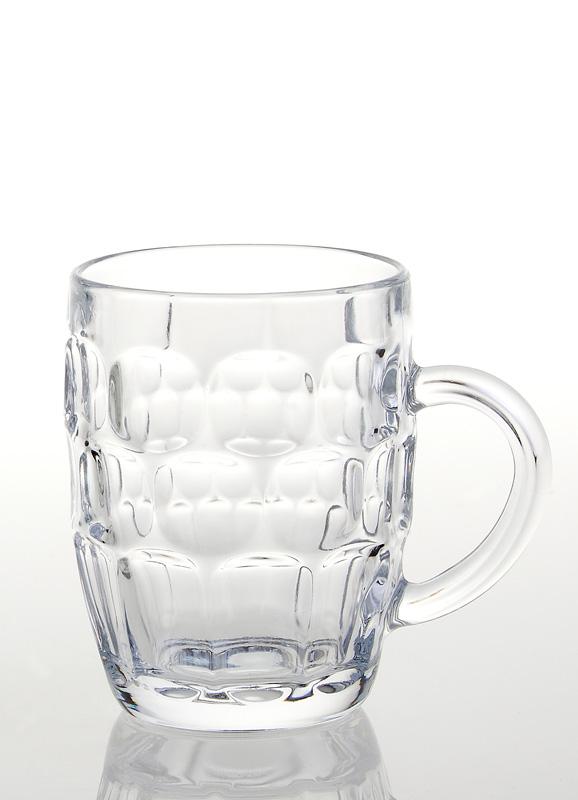 Ølkrus med hank