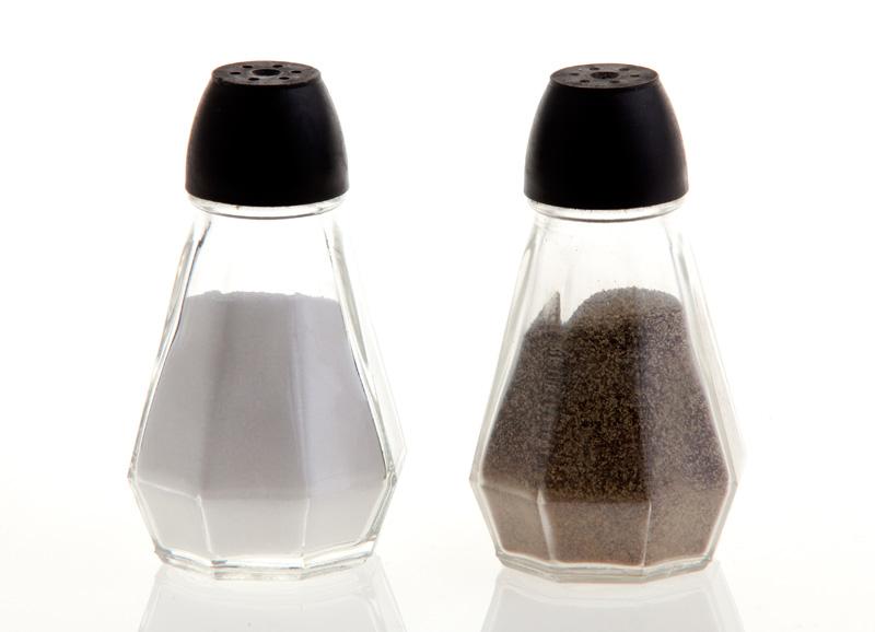 Salt/Peber sæt (glas) - Diverse porcelæn - Festshop.dk